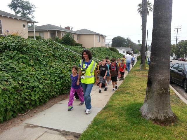 A Walking School Bus in action. Photo by Lauren Nakano