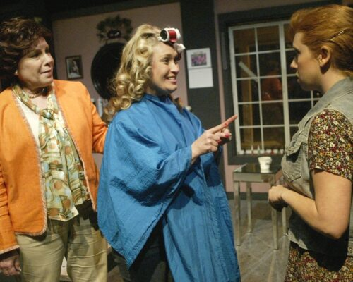 """Steel Magnolias"" is playing through Saturday, July 13, at Little Fish Theatre, 777 Centre St., San Pedro. Friday and Saturday at 8 p.m., and this Sunday at 2 p.m. Also, Wednesday and Thursday, July 10 and 11, at 8 p.m. Tickets, $27 general; $24 seniors ($23 and $20 on weeknights; $20 students, all shows). Pictured, Susie McCarthy as Clairee, Daina Baker Bowler as Shelby, and Kristin Towers-Rowles as Annelle. Photo by Mickey Elliot. (310) 512-6030 or go to littlefishtheatre.org."