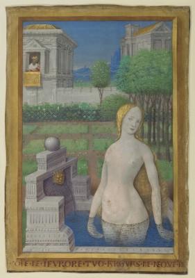 """Bathsheba Bathing"" (1498-99), by Jean Bourdichon. Courtesy of The J. Paul Getty Museum, Los Angeles"