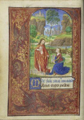 """Noli me tangere"" (1469), by Lieven van Lathem. Courtesy of The J. Paul Getty Museum, Los Angeles"