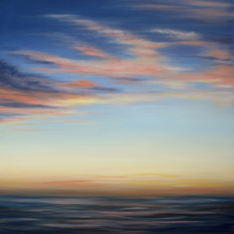 """""""Anniversary Sunset,"""" painting by Tricia Strickfaden"""