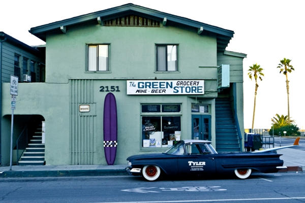 The Green Store figures prominently in Hermosa's surf history. Photo by Brent Broza
