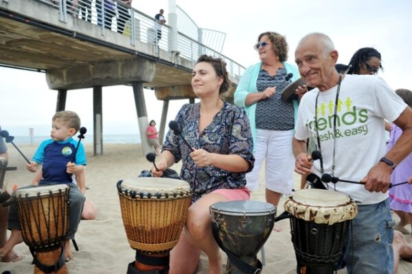 From very young to getting-up there, the Free to Be Me Drum Circle pulls in people of all ages. Photo by Chelsea Sektnan