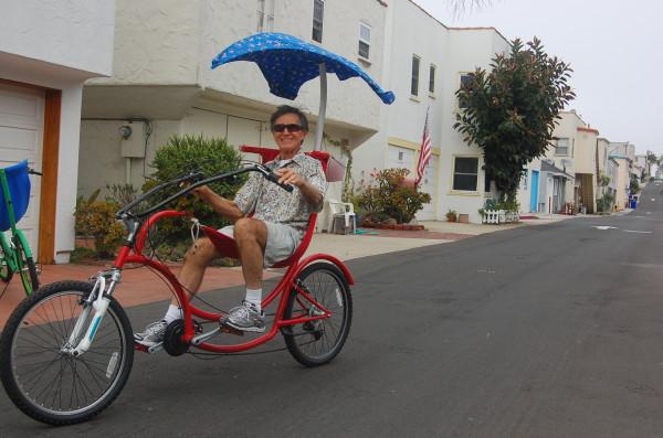 Don Spencer 76 Cruises On A Bananahama Prototype Tuesday In His Manhattan Beach Neighborhood