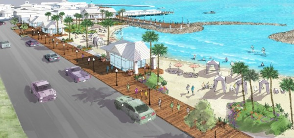 Another image of the proposed waterfront redesign. Photo courtesy of CenterCal