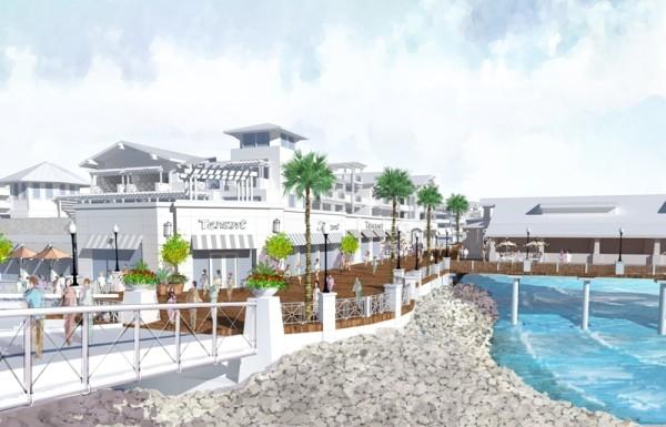 A rendering from the Redondo Beach marina. Photo courtesy of CenterCal