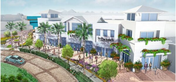 The proposed re-design of the waterfront area bordering Torrance Blvd. Photo property of CenterCal