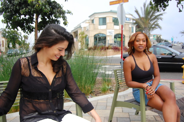 Mollie Thomas and Tracy Francis on Hermosa's Pier Avenue