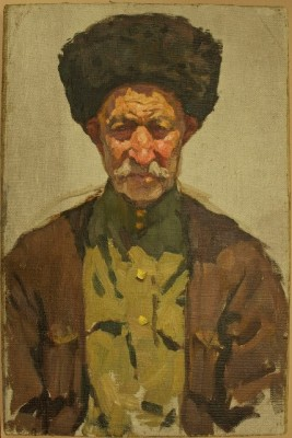 Painting of a Cossack by Irina Georgievna Broido