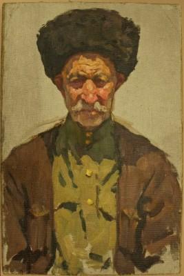 Painting of a Cossack by Irina Georgievna Broido