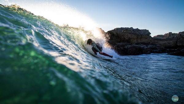 In the northern section of LA County, Sean knows a little bit about the nooks and crannies that come alive during particular swells. Photo by Adam Reynolds of Bhbsurf.com