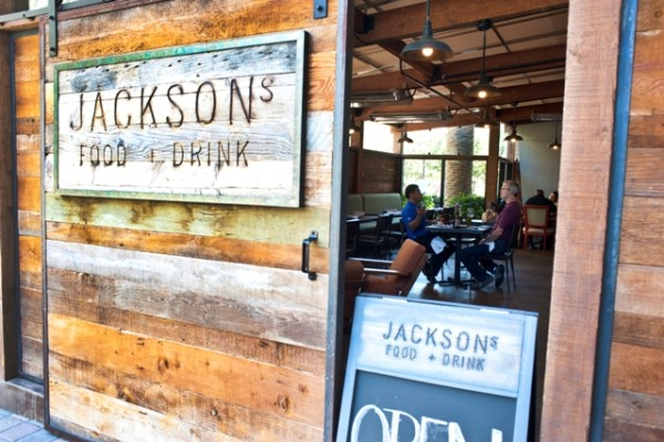 The sliding barn door has become an icon of the new Jackson's.
