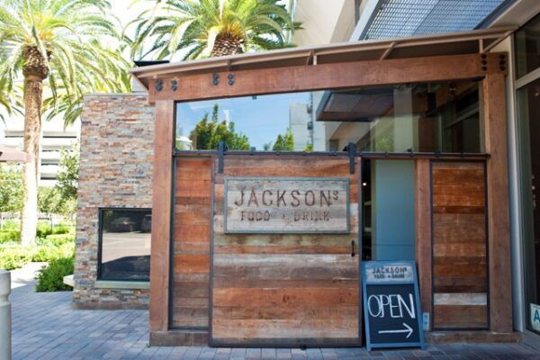 Jackson's welcoming façade warms up the austere surroundings of the commercial park.