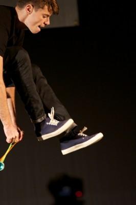 Patrick Borgerding at the World Yo-Yo Contest. Photo courtesy of YoYoFactory and John Borgerding