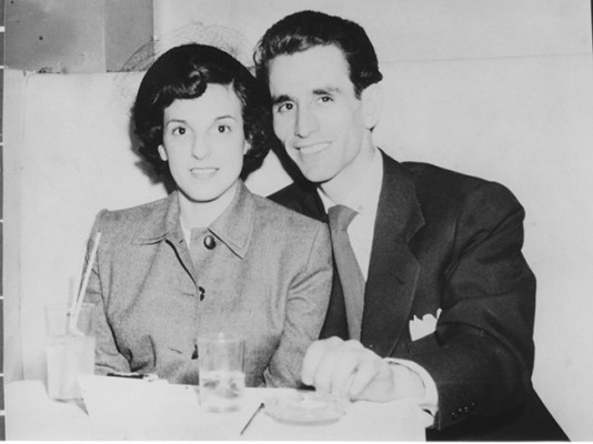 Gloria and Ozzie Cadena on their two-day honeymoon in New York in 1950, where they did their two favorite things: they went to see jazz and they went to a Giants game. Photo courtesy Gloria Cadena.