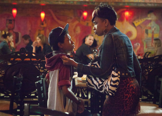 "The talented actress Jennifer Hudson portrays ""Gloria"" troubled mother of son Mister (Skylan Brooks)."
