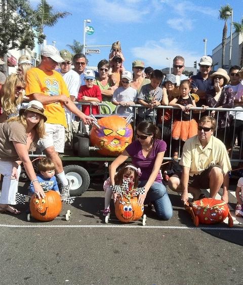 The 23rd annual World Famous Pumpkin Race rolls its pumpkin racecars just above Manhattan Beach Pier starting at noon on Sunday.