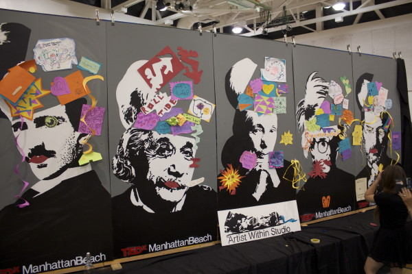"""Artist Within Studio's """"common consciousness"""" wall at TEDxManhattan Beach"""