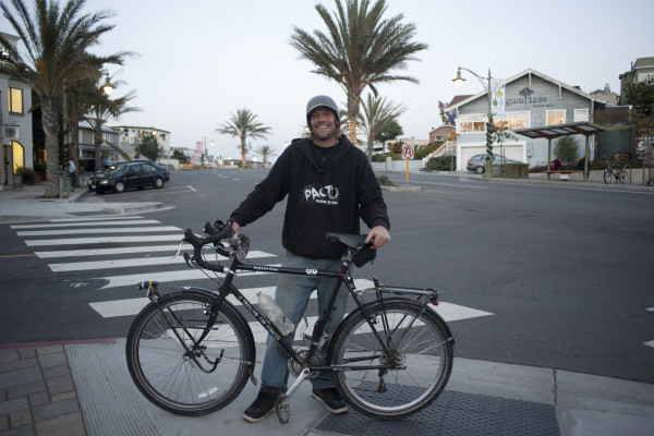 James Rienstra, who passed through Hermosa Beach last week on journey from Minnesota to the southern end of South America. Photo submitted by Chelsea Schreiber