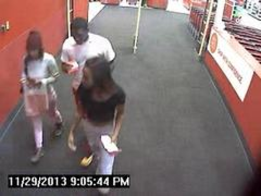 Police believe this trio, captured on a surveillance camera at a Target location, is responsible for a strong arm robbery last month in the Manhattan Village parking lot. Courtesy of MBPD