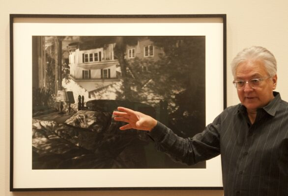 Abelardo Morell and his work at the Getty. Photo by Gloria Plascencia