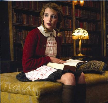 "Sophie Nélisse as Liesel in ""The Book Thief"""