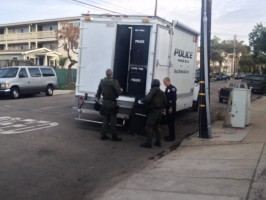 Redondo Beach police called in reinforcements to handle the possible threat on Francisca Ave. Photos by Alyssa Morin