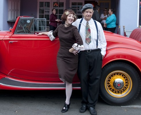 Janet Klein and one of her Parlor Boys, Randy Woltz. Photo by Gloria Plascencia