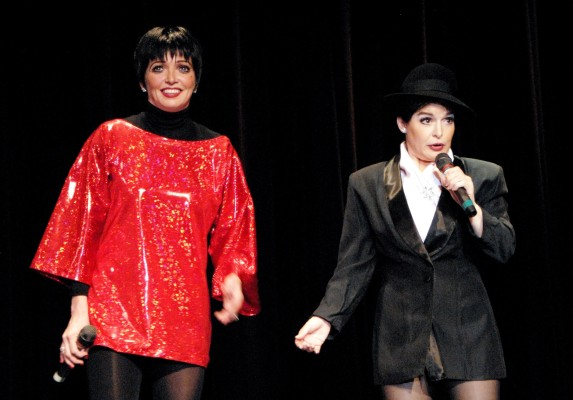 """""""Liza & Judy: Together Again"""" is a Broadway-style revue, with Liza Minnelli and her mother Judy Garland portrayed by Suzanne Goulet and Denise Rose. Their show recreates the experience of a live concert, accompanied by with the Cabaret Dancers. It takes place at 8 p.m. on Saturday in the Norris Theatre, 27570 Norris Center Drive, Rolling Hills Estates. Tickets, $45 general; $25 children. (310) 544-0403 or go to norriscenter.com."""