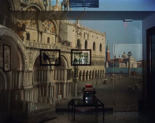 """Upright Camera Obscura Image of the Piazzeta San Marco Looking Southeast in Office"" (2007), by Abelardo Morell. ©Abellardo Morell, courtesy of Edwynn Houk Gallery, New York"