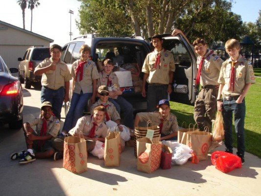 Redondo Beach Boy Scout Troop 788: in front are Joseph Mejia, Robert Crompton, Mike Hodgkiss, and Carson Harris and in back are Daniel Jones, Ben Anderson, Thomas Noell, Matthew Murray, Brian Cloutier, Kyle Bohlander. Photo courtesy of Rick Powers