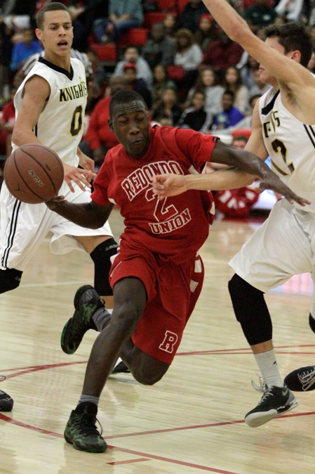 Leland Green has played a key role in Redondo's fast start this season. The sophomore scored 17 points in the Sea Hawk's 69-58 win over Alemany on Saturday. Photo by Ray Vidal