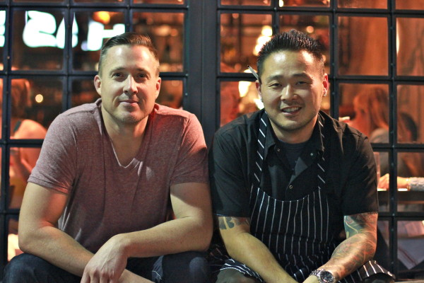 Restauranteur Jed Sanford and Chef Tin Vuong outside Little Sister, which features dishes from the culinary traditions of China, Vietnam, Burma, and other southeast Asian cultures presented without compromise. Photo by Billy Yang