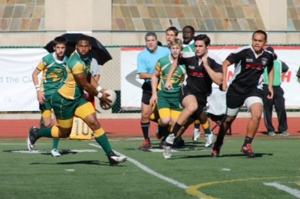 Mira Costa's Brandon Mills passes to a teammate during a recent Mustang victory in a Southern California Youth Rugby Association contest.