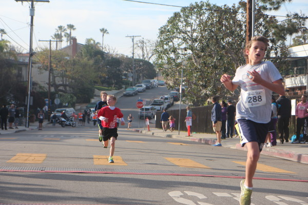 AMS seventh-grader Henry Humbarger finished first in his age group 13-14.