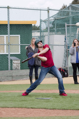 Josh Ramos, super senior at Mira Costa, swings for the ball. Photo by Brad Jacobson