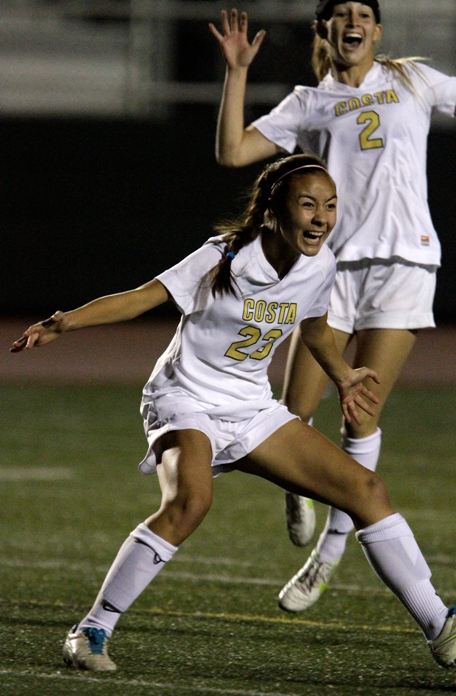 McKenna Doyle scored the winning goal in Mira Costa's 2-0 first-round in the CIF Division 2 playoffs. Photo by Ray Vidal