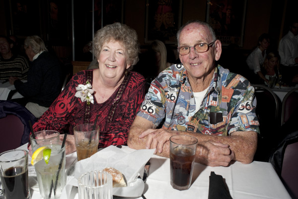 Notoriously photo shy Susan Blaco and her husband Steve were spotted at this year's Hermosa Beach Man and Woman of the Year ceremony. Photo by Chelsea Schreiber