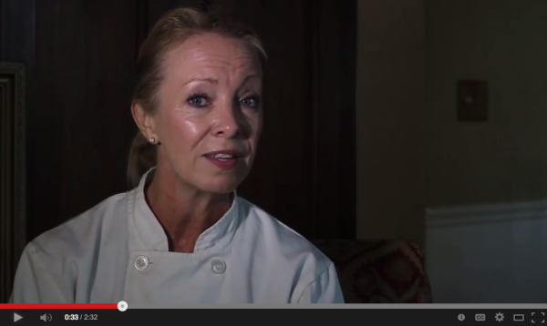 Tammy Lipps, owner of catering company The Ripe Choice in Manhattan Beach, is featured in a YouTube video as a s.a.g.e business. Screenshot from YouTube