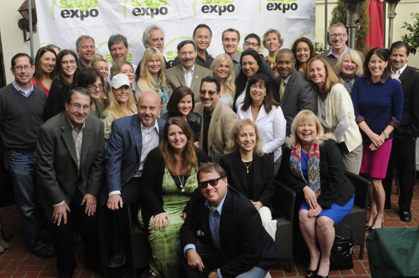 Pictured here, s.a.g.e. expo organizers, local business owners and a number of Manhattan Beach council members gathered for a photo at s.a.g.e. expo's recent breakfast networking event at Tin Roof Bistro. Photo courtesy of Mark Lipps