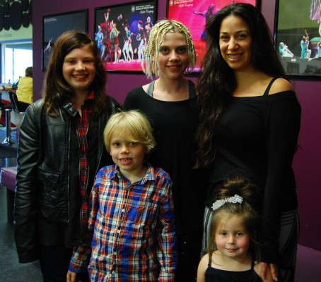 School of Dance and Music owner Liliana Somma (far right) with students Allee Stone, 12, Avalon Stone, 10, Spencer Stone, 6, and Ava Garfield, 4. Photo by Esther Kang