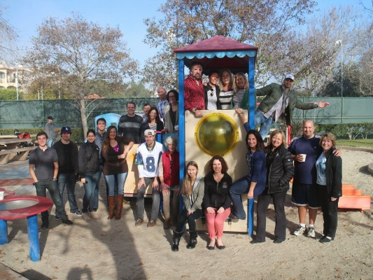 Members of Leadership Manhattan Beach Class of 2014 at the Live Oak tot-lot, which they will work to renovate in the coming months. Photo courtesy of Steve Tobias