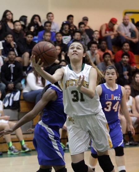 Mira Costa freshman Allie Navarette scored a team-high 19 points. Photo by Ray Vidal