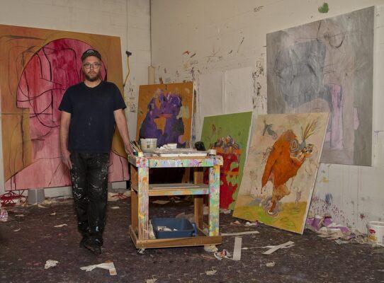 Painter Sean McGaughey in the combat zone Gloria Plascencia, Contributing Photographer