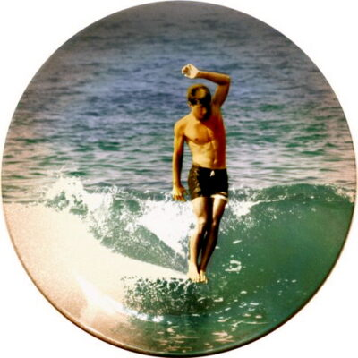 This photo by Leroy Grannis was used on a commemorative plate