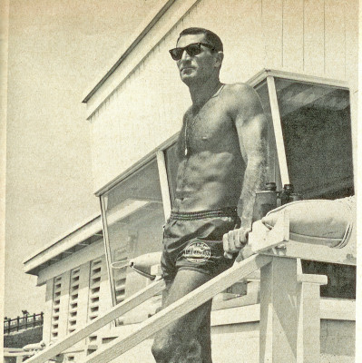 McFarlane described the years from '57 to '67 in a tower at Torrance Beach as the best years in his three decades of lifeguarding.