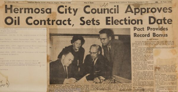 Hermosa Beach council schedules vote on oil election -- in 1958
