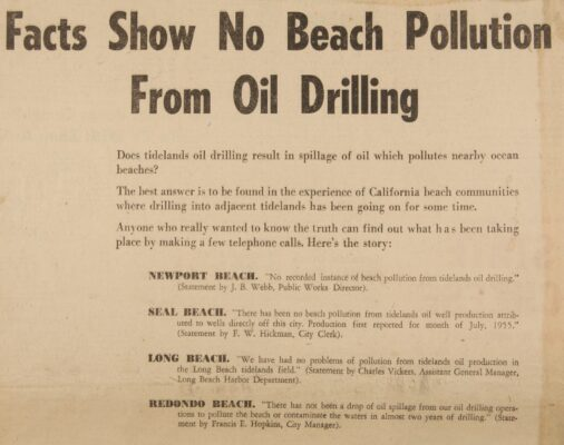 A pro oil ad from the 1958 election.