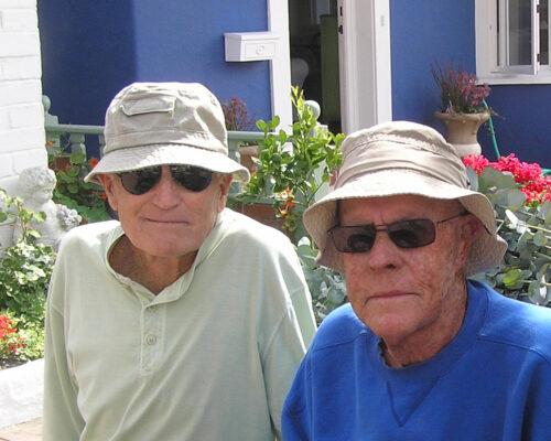 "22nd Street Legends John ""Perfect Merc"" McFarlane and Bob ""Beach Captain"" Bergstrom."