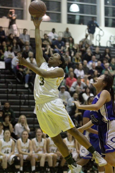 Camille Mills scored all of her 10 points in the second half. Photo by Ray Vidal